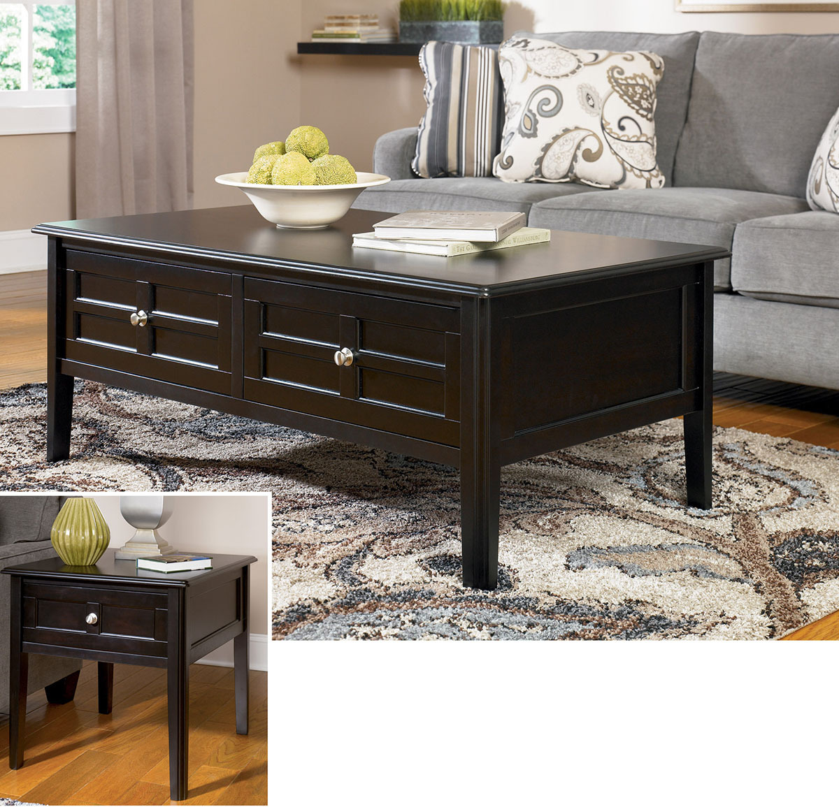 Ashley Coffee End Tables: Cocktail & End Table Sets