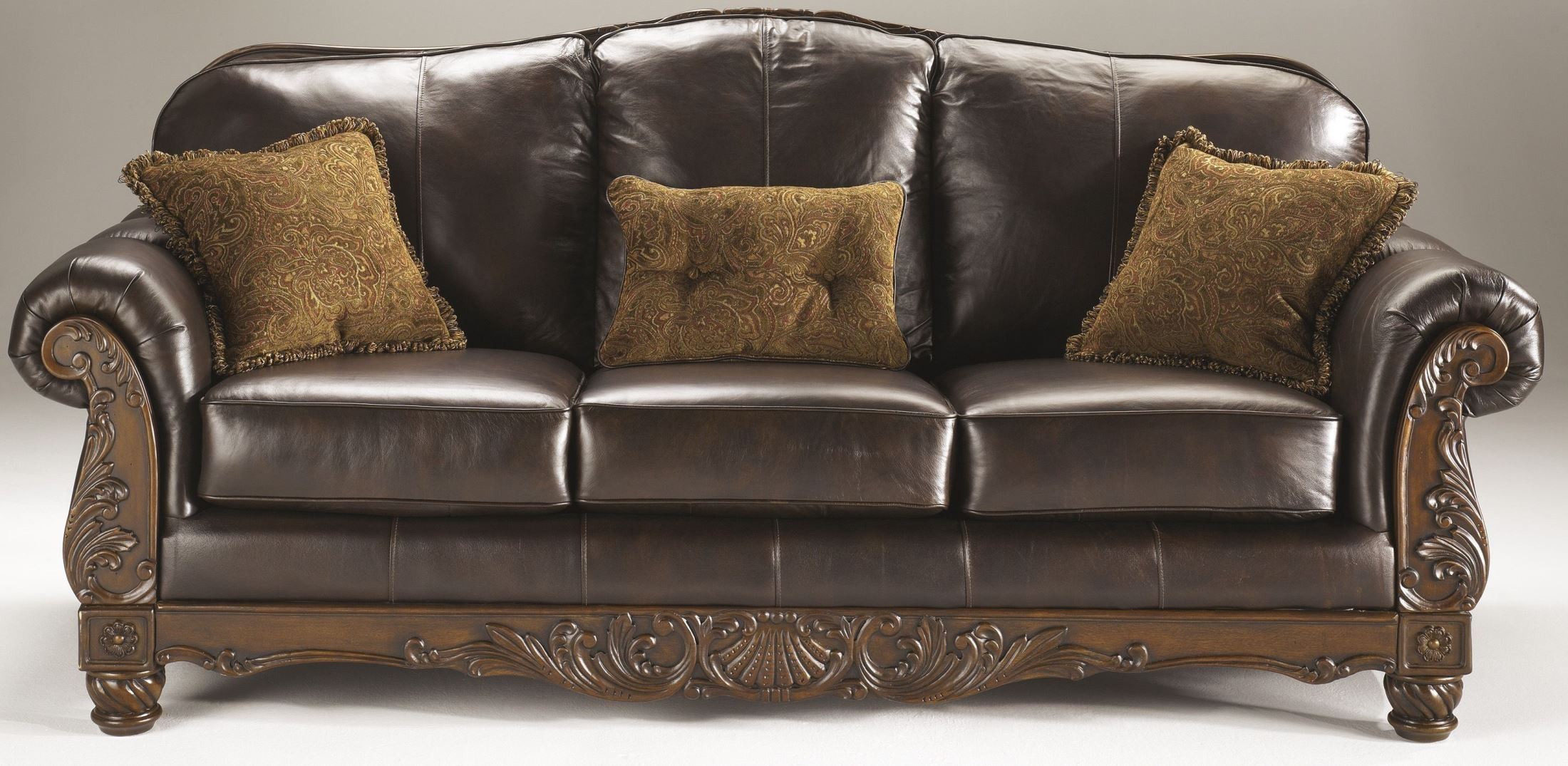 Ashley North Shore Dark Brown Sofa Factory Direct Furniture 4u
