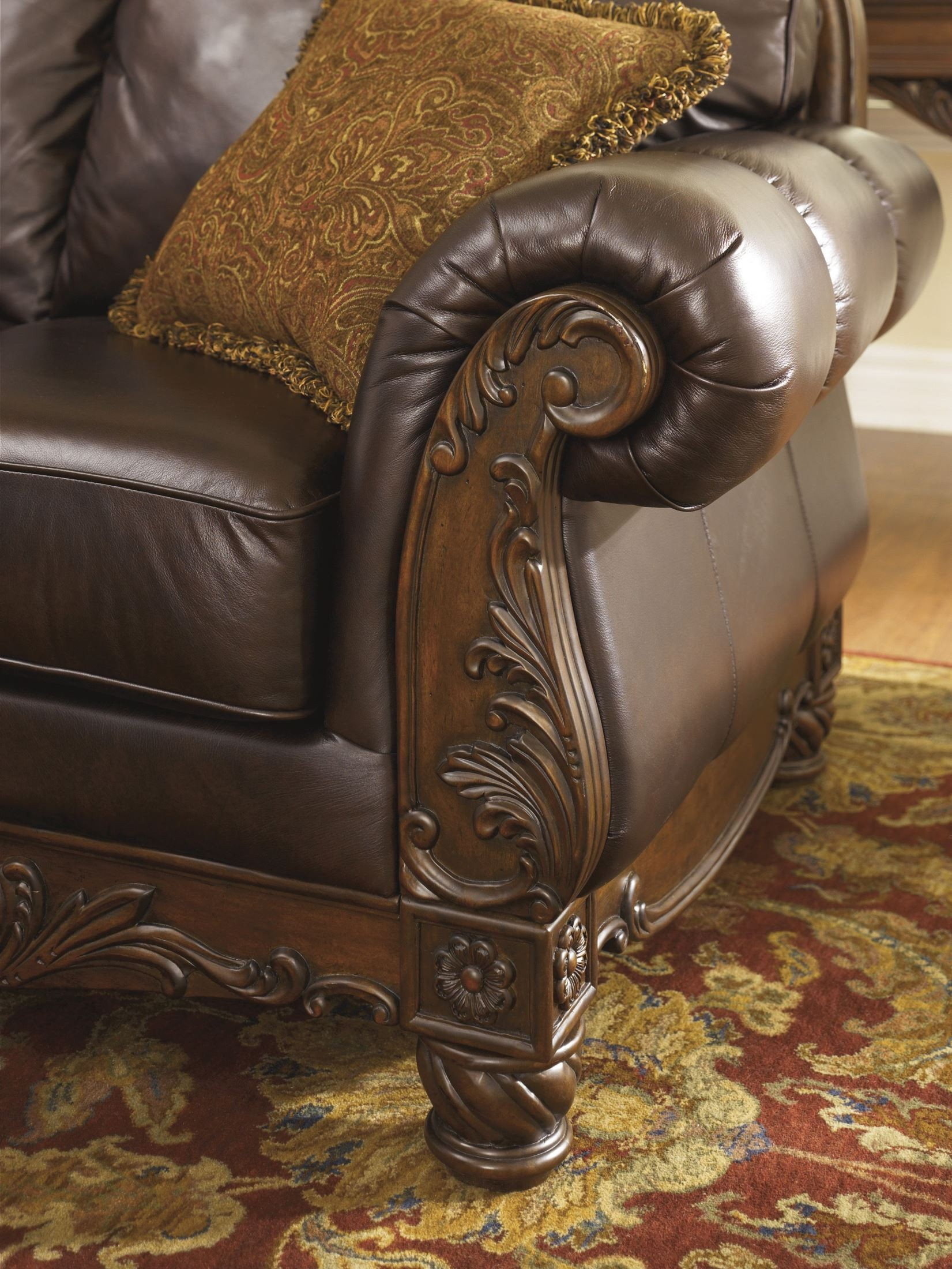 Ashley North Shore Dark Brown Loveseat Factory Direct