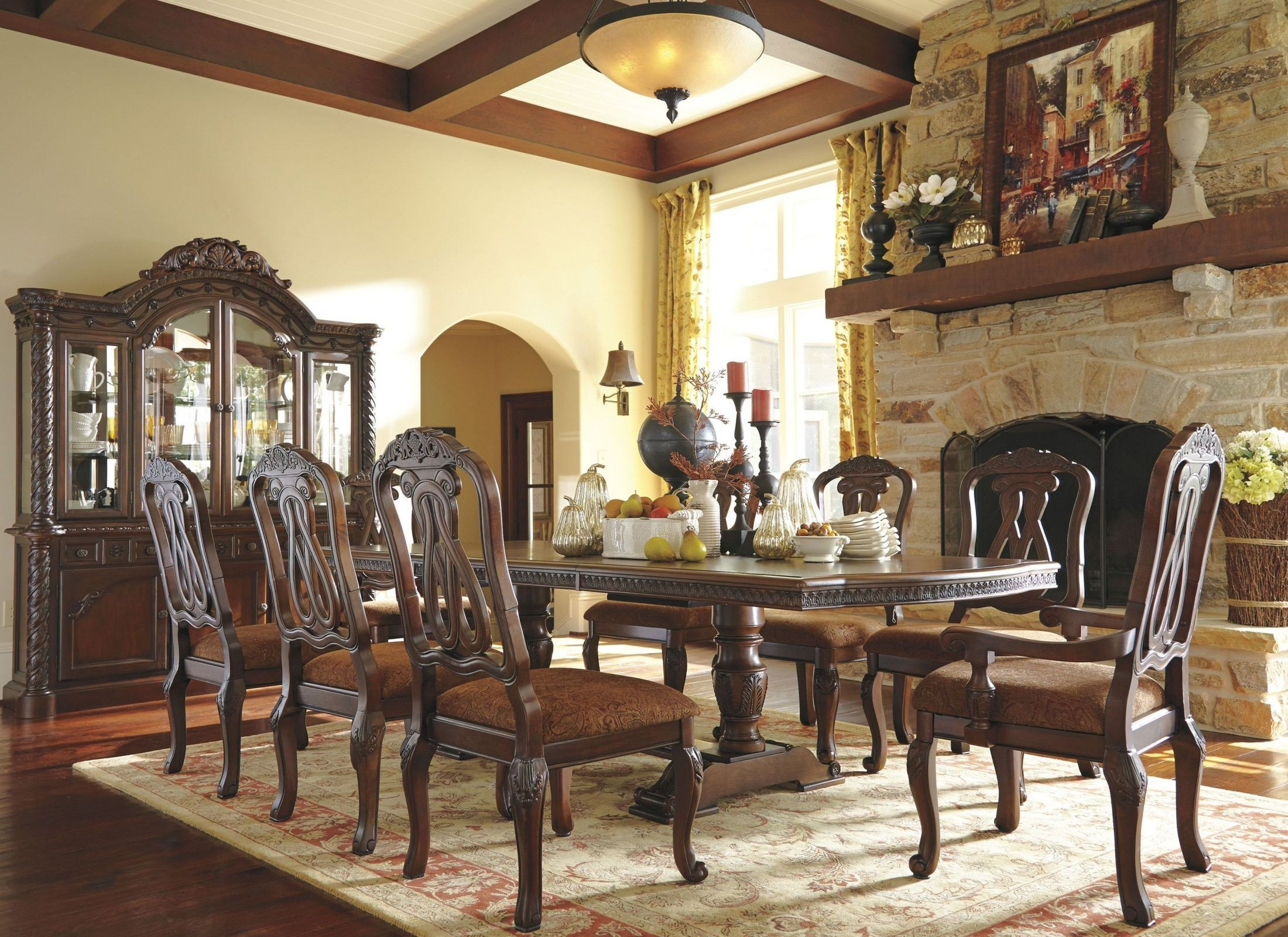 ashley furniture dining set with amazing | Ashley North Shore Dining Room Set - Factory Direct ...