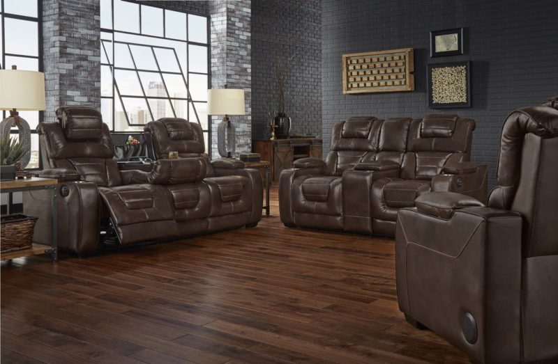 Corinthian Power Titanium Living Room 73901 Desert Chocolate